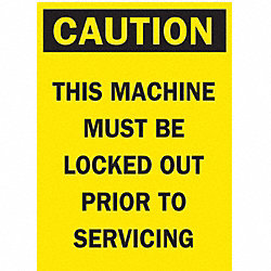 Caution Security Sign, 5 x 3-1/2In, BK/YEL