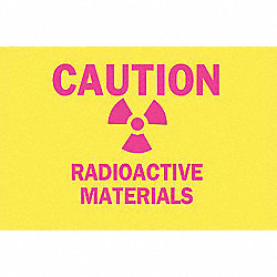 Caution Radiation Sign, 10 x 14In, ENG