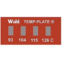 Non-Rev Temp Indicator, Mylar, PK10