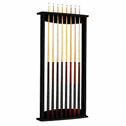 Cue Wall Rack, 54x26-1/16x6-3/8, Black