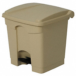 Step On Container, Square, 8 G, Beige