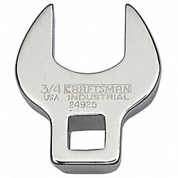 Crowfoot Wrench, 3/8 Dr, 3/4 In, Chrome