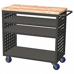 Louvered Cart, 37x18x36 In., 800 lb. Cap.