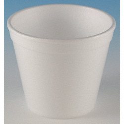 Container, Disposable, White, 8 Oz, PK 1000