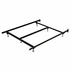 Bed Frame, Cap. 500 lbs, CA King, 72 In.