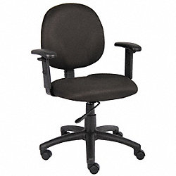 Task Chair, Ergonomic, Black
