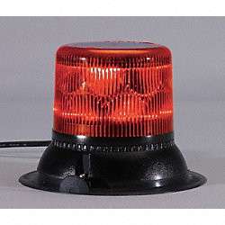 Dual Level Strobe, Red, Mag/Suction, LED
