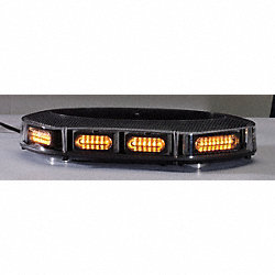 Lightbar, LED, Amber, Perm/Mag, 17-1/4 In