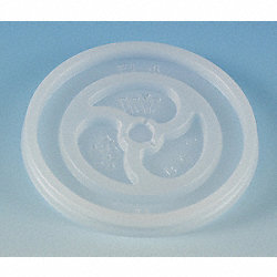 Disposable Lid, Non-Vented, Trans, PK 1000