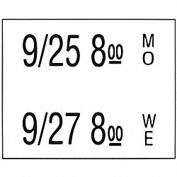 Date Coder Labels, 3/4 In. H, PK6000