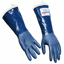 Steam Resistant Gloves, Blue, M, Rubber, PR