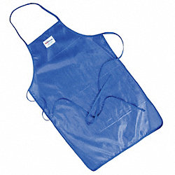 Bib Apron, Blue, 36 In. L, 24 In. W