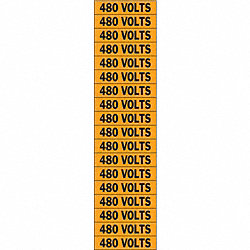 Voltage Card, 18 Marker, 480 Volts
