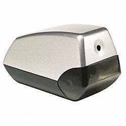 Pencil Sharpener, Electric, Silver/Black