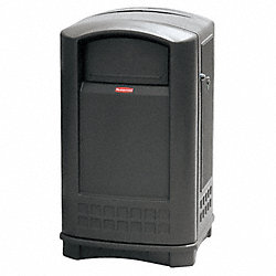 Waste Receptacle, Side Open, 50 G, Black