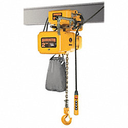 Electric Chain Hoist w/Trolley, 15 fpm