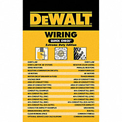 DEWALT Wiring Quick Check 1st Edition