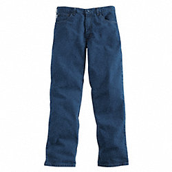 Pants, Blue, Cotton, 36 x 32 In.