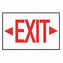 Exit Sign Decal, NWP Series, Arrow Lft Rt
