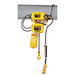 Electric Chain Hoist w/Trolley, 14 fpm