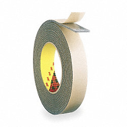 Double Sided Tape, 1 In x 36 yd., White