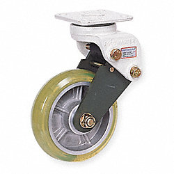 Rigid Plate Shock-Absorbing Caster, Gray