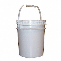 Pail, HDPE, Wht, 2.5 gal, screw top, UN