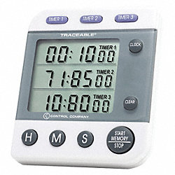 3-Channel, Jumbo Timer, Traceable