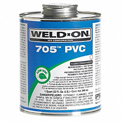 Pipe Cement, Clear, 8 Oz, PVC