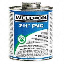 Pipe Cement, Gray, 32 Oz, PVC
