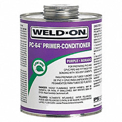 Primer Cleaner, Purple, 16 Oz, PVC and CPVC