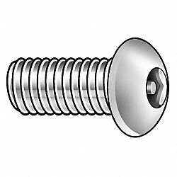 Mach Screw, Btn, 1/4-20 x 3/4 L, PK10