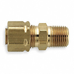 Male Connect, 3/8 In, Tube/MNPT, Brass, PK25
