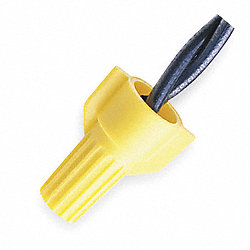 Wire Connector Nut, WT51, Yellow, PK 25