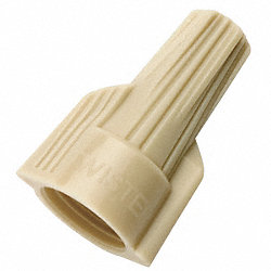 Wire Connector Nut, 341, Tan, PK 150