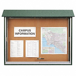Enclosed Bulletin Board, Tack, 36