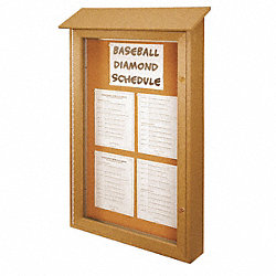 Enclosed Bulletin Board, Tack, 40