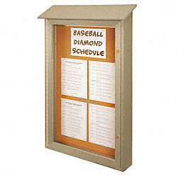Enclosed Bulletin Board, Tack, 48