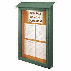 Enclosed Bulletin Board, Tack, 54