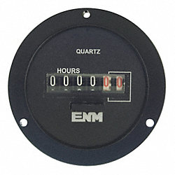 Hour Meter, 9999.99Hrs, 120VAC, Resettable