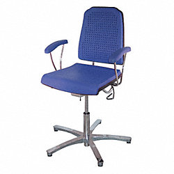 Task Chair, 300 lb., Blue