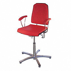 Task Chair, 300 lb., Red