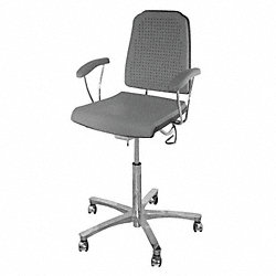 Task Chair, 300 lb., Gray