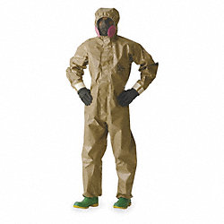 Hooded Tychem(R) CPF 3, Tan, Gloves, M, PK 6