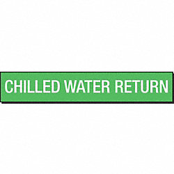 Pipe Marker, Chilled Water Return, Green