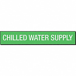 Pipe Marker, Chilled Water Supply, Green