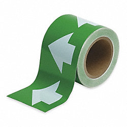 Arrow Tape, White/Green, 2 In. W