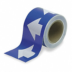 Arrow Tape, White/Blue, 2 In. W