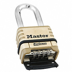 Resettable Combination Lock, Brass, 1-1/16