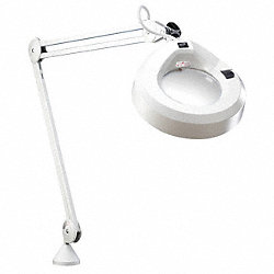 Magnifier Light, 30In Arm, Light Grey